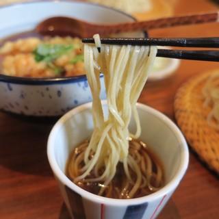 あかりや弧仙 - 料理写真:小海老かき揚げ浸しせいろ 1500円