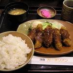 洋食屋 カーネリアン - 牛カツ定食@940