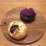 95017008 - パン屋さんの紅芋モンブラン 160円                       あんバターフランス 160円