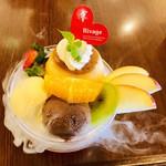 ケーキハウス - リバージュ - 料理写真:プリンセスパフェ ドライアイスで もくもく煙演出付き