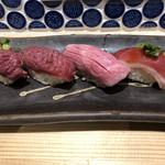 浅草橋 肉寿司 -