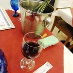 ブリッヂ - 今回は白ワインが無く赤を!暑いから冷やす。