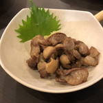 とり焼肉 とり軍 - 2018年10月20日  ずり皮素揚げ 380円