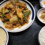 聚福縁 - 豚肉とキムチ炒め定食