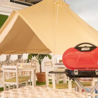 ◇全74席◇テントのある開放的な空間で気分はグランピング*