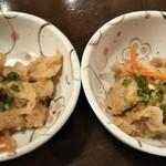旨唐揚げと居酒メシ ミライザカ - 鶏の南蛮漬け(お通し)
