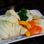 焼肉山本苑 - 焼野菜。