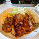 きまぐれ食堂 - 照り焼きチキン+(0゚・∀・) + テカテカハハッ♪