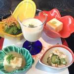 讃アプローズ - 旬菜5品 秋刀魚のみぞれ和えは鶏肉ときゅうりの中華和えに変更でした