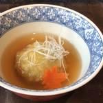 讃アプローズ - 茄子饅頭鶏そぼろ射込み 銀あんのお出汁が美味しかったです