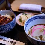 叶屋 - ミニうな丼セット 1280円
