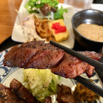 恵比寿 牛たん 英司 - 牛たん焼き定食1,800円