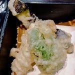 さわ - 天ぷら、茄子、ピーマンに穴子