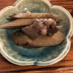ばぁばのごはん - 小鉢の牛肉とごぼうの煮付け