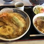 エデン - 天丼セット 1000円 +大盛りで100円増し