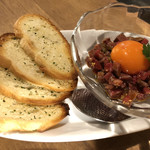 95038125 - 生肉、卵、美味い