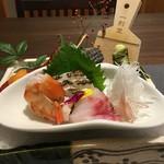 加太淡嶋温泉 大阪屋ひいなの湯 - 赤足海老、加太の真鯛とコブダイ、北海道の雲丹と、栄螺、和歌山の山葵