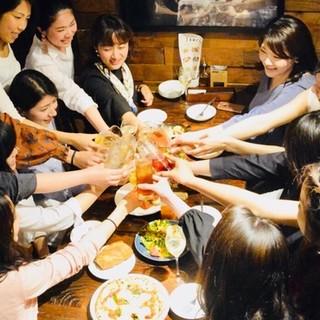 【忘年会・ご宴会!】2時間飲み放題付きコース4,000円~
