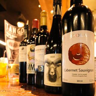【人気のこだわりワイン】リーズナブルな2,800円~ご用意♪