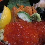 海陽亭 - うにとイクラのダブル丼 1,944円(税込)