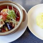 スープカレー&ステーキ 傾奇 - 豚しゃぶスープカレー《辛さ6番・ライス小》【Oct.2018】