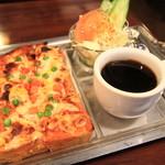 ナイル - 料理写真:ピザトーストセット