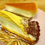 自由が丘プラス - 4皿目(パンプキンクリームタルト・チーズケーキ)