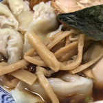 ○決 - ラーメン(味玉、ワンタン)