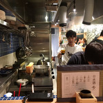 炭焼ひばち - 店内(厨房)