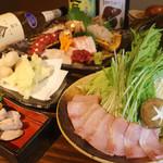 酒肴菜や 利一 - 二色だしのブリしゃぶ鍋コース