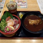 海鮮れすとらん 魚輝水産 - 漁師丼定食(540円)