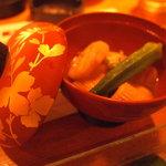居酒屋 居乃一BAN KANAZAWA - 合鴨の治部煮¥680