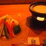 居酒屋 居乃一BAN KANAZAWA - 地野菜たっぷりバーニャカウダ¥780