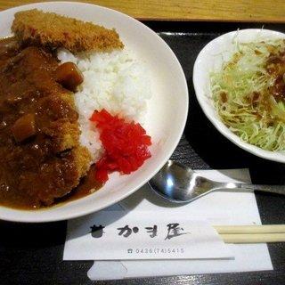 かま屋 - 料理写真:カツカレー+ハムカツ1個!
