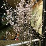 95062173 - エントランス脇に置かれた胡蝶蘭と啓翁桜がゲストを迎えてくれる。