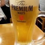 大衆すし酒場 カドハチ - 生ビール:280円