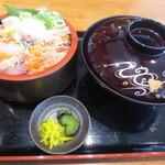 魚輝水産 - 漁師丼定食
