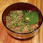 玄洋食堂 - 鯛ごま丼(500円)!鯛とごまのハーモニー。上品なお味です。