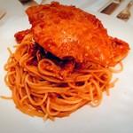 95070157 - 渡り蟹のトマトマスカルポーネソースパスタ