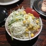 焼き鳥ハウス 泉竹林 - 定食のサラダ
