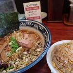 味丸 - Aセットラーメン半チャーハン980円