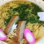 千崎製麺 - しょうゆ細麺大盛り450円