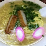 千崎製麺 - とんこつ細麺大盛り450円