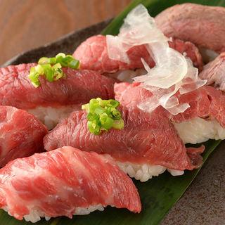 期間限定ローストビーフの肉寿司を堪能!