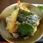 うどん処 かわせみ - ぶっかけ天ぷら 750円