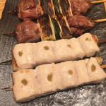 95108124 - アカねぎ間串、ささみ柚子胡椒串