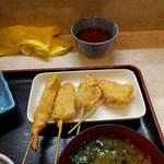95111774 - めはり寿司定食に付く串揚げが美味い