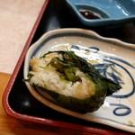95111782 - めはり寿司の中身(青菜の漬物?)
