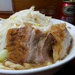 蓮爾 - 料理写真:小ラーメン+ウズラ(ヤサイ・ニンニク)
