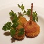 シェフズテーブル リセノワール - オリーブとトマトのフライ